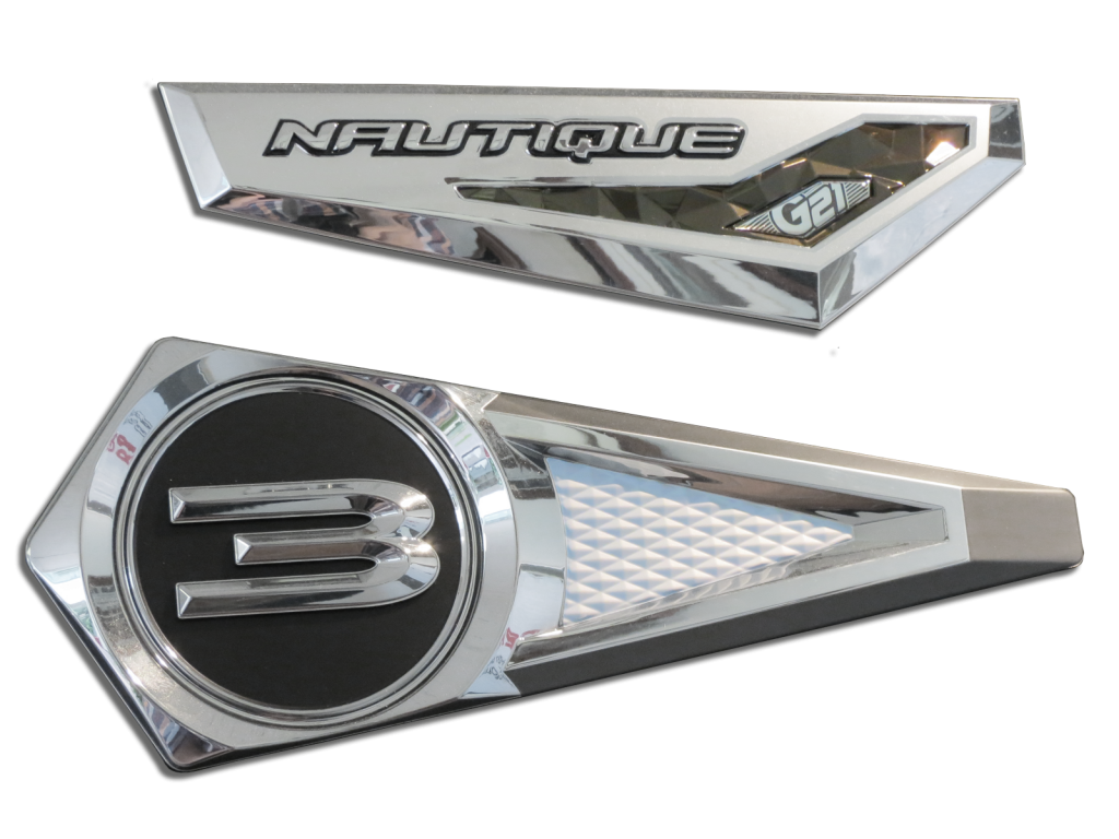 Nautique Badging - G21 with urethane domed insert.